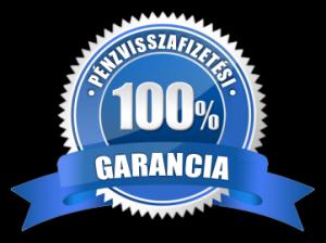100%-os pénzvisszafizetési garancia 15 napon belül