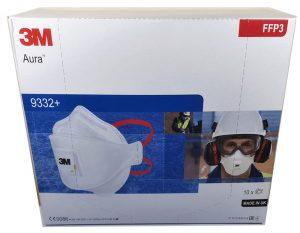 3M Aura FFP3 minősítésű szelepes maszk