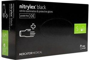 Nitrylex® PF fekete púdermentes nitril egészségügyi és munkavédelmi kesztyű