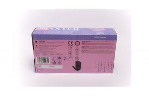 Maxter kék púdermentes nitril egészségügyi és munkavédelmi kesztyű